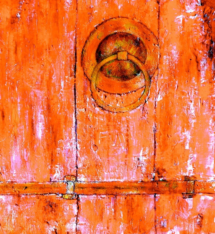 Red Barn Door - Multi Medium Painting by Gord